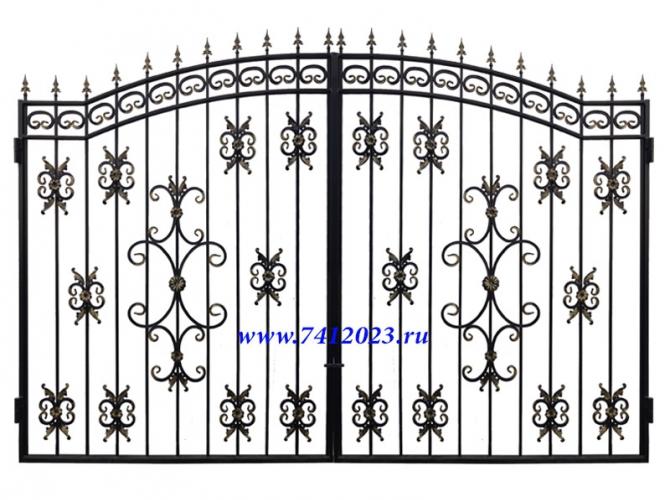 Ворота кованые №39 (3,34 х 2,35 м) - 7412023.ru