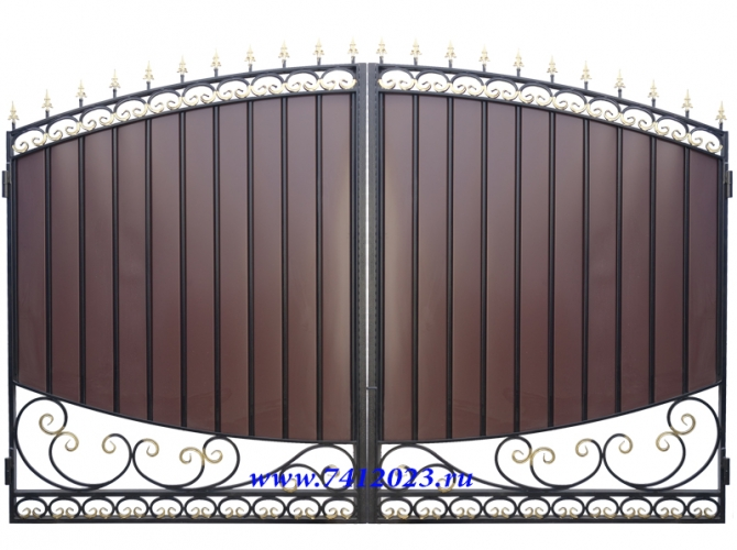 Ворота кованые №44 - 7412023.ru