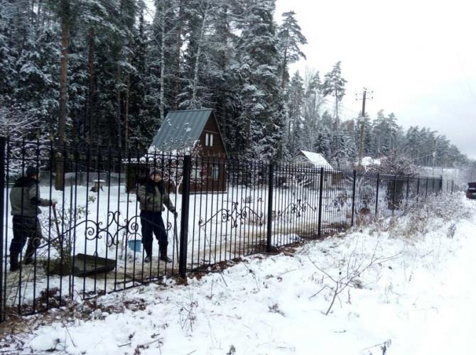 Кованый забор секция КА-15.6 - 7412023.ru