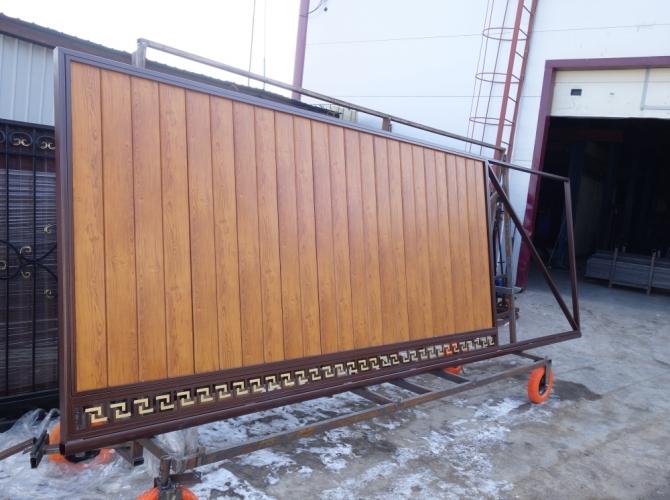 Ворота металлический штакетник - 7412023.ru