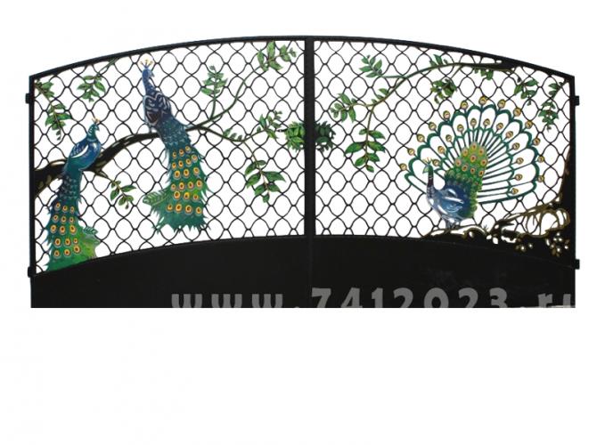 "Ворота №27 ""Павлин на решетке"" - 7412023.ru"
