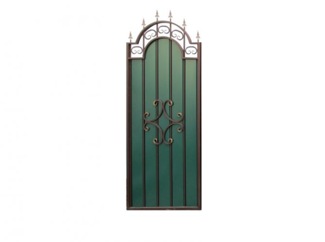 Калитка к кованым воротам №21 зеленая (0,885 х 2,35м.) - 7412023.ru