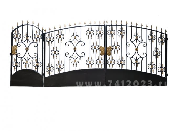 Ворота кованые №23-П - 7412023.ru