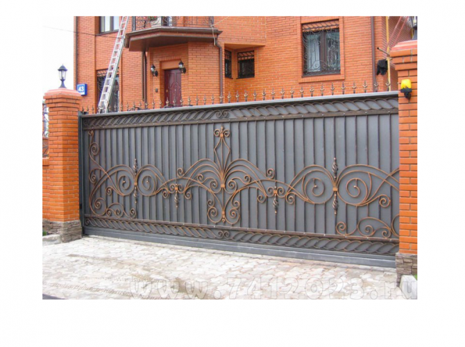Ворота откатные №1 - 7412023.ru