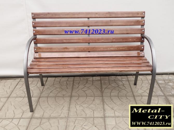 Скамейка садовая разборная №1 светлое дерево 1,2м - 7412023.ru