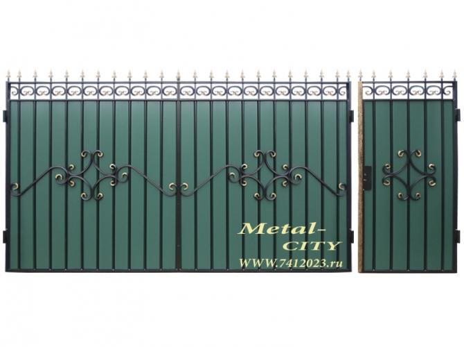 Ворота кованые № 41 - 7412023.ru