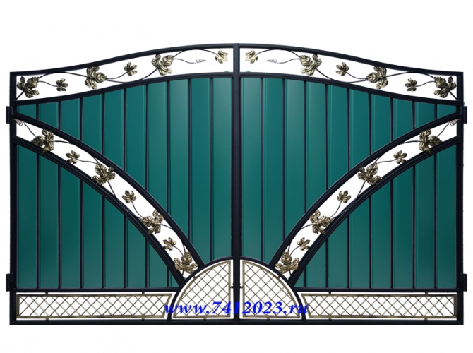 Ворота кованые №58 - 7412023.ru