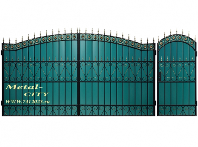 Ворота кованые №56 - 7412023.ru