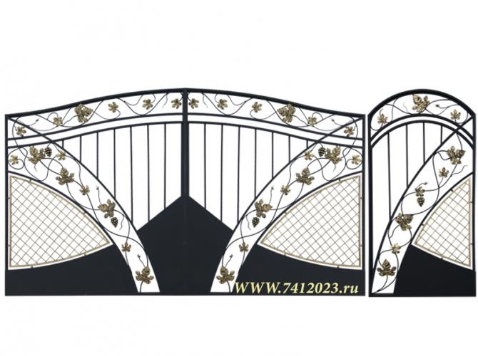 Калитка к кованым воротам №59 - 7412023.ru