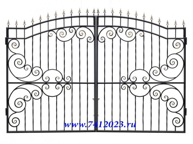 Ворота  кованные для дачи - 7412023.ru