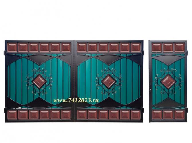 Калитка к филенчатым воротам №60 - 7412023.ru