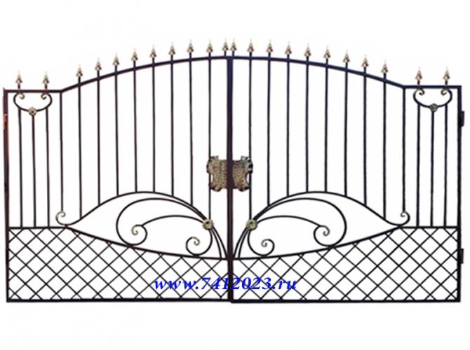 Ворота кованые №36  - 7412023.ru