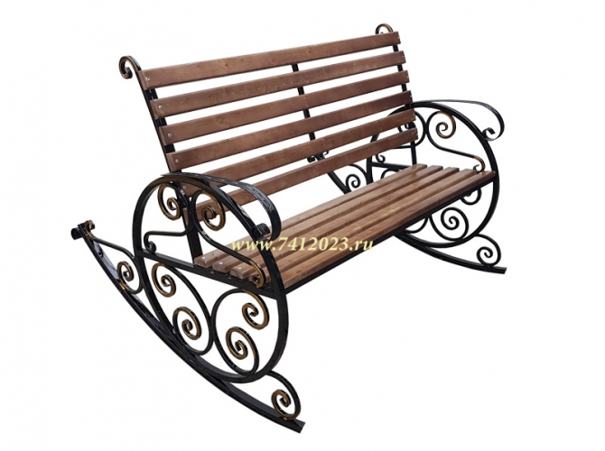 Скамейка качалка садовая №8 - 7412023.ru