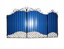 Калитка к кованым воротам №22/1 синяя - 7412023.ru