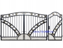 Оригинальнве ворота 57 кованные Лоза для Загородного дома или дачи - 7412023.ru