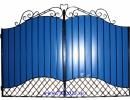 Ворота кованые №22/1 синие - 7412023.ru