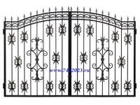 Ворота кованые №39 (3,34 х 2,35 м)