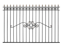 Кованый забор секция К-15.3