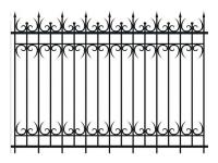Кованый забор секция К-15.4