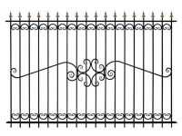 Кованый забор секция К-15.5