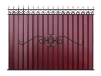 Кованый забор секция КП-15.1 (вишневая)