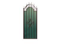 Калитка к кованым воротам №21 зеленая (0,885 х 2,35м.)
