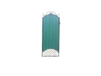 Калитка к кованым воротам №22 зеленая