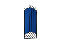 Калитка к кованым воротам №22/1 синяя