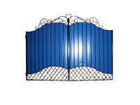 Ворота кованые №22/1 синие