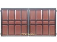 Ворота филенчатые №42 коричневые