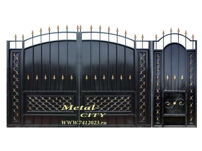 "Калитка к кованым воротам №16 ""Клеопатра"" - 7412023.ru"