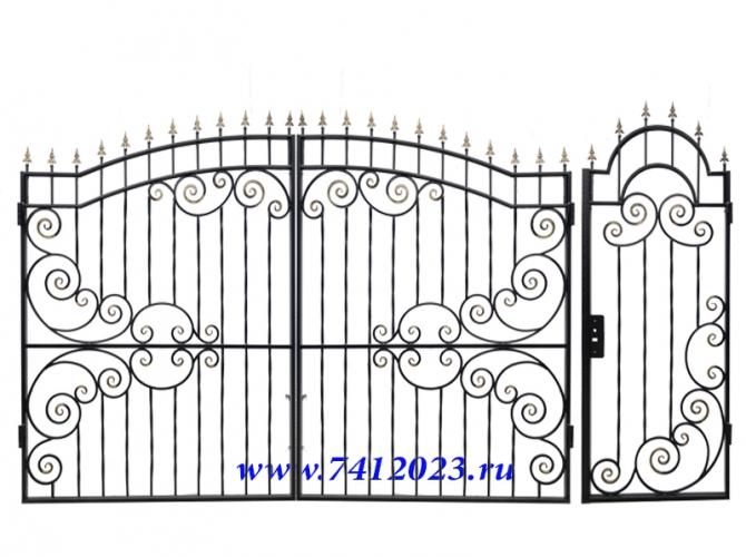 Калитка с воротами в загородный дом - 7412023.ru