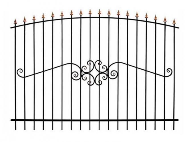 Кованый забор секция КА-15.3 - 7412023.ru