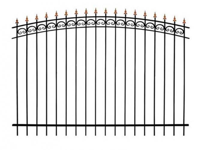 Кованый забор секция КА-15.4 - 7412023.ru