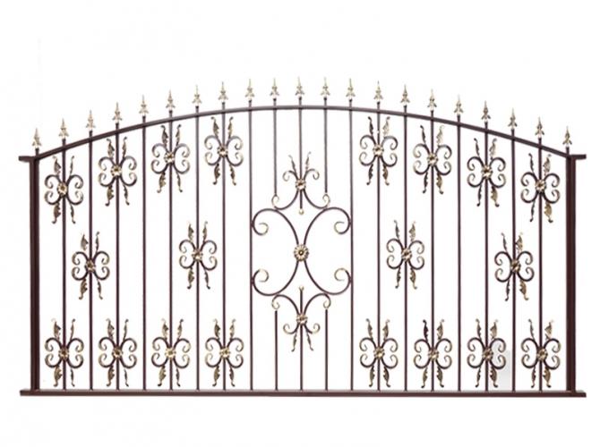 Кованый забор секция КА-15.40 - 7412023.ru