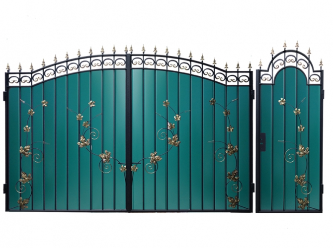 Ворота кованые №21 Лоза - 7412023.ru