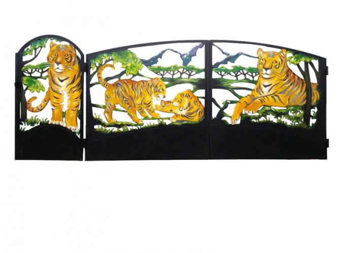 """Калитка №35 """"Тигры"""" - 7412023.ru"""
