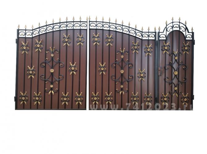 Калитка к кованым воротам №40 коричневая - 7412023.ru