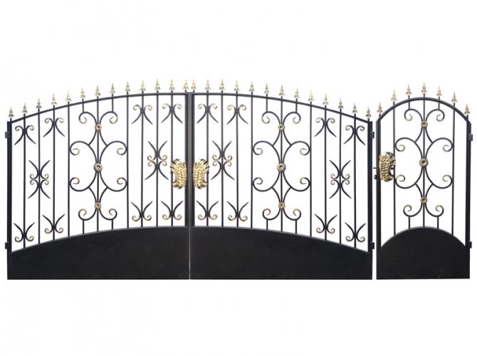 Ворота кованые №9 П - 7412023.ru