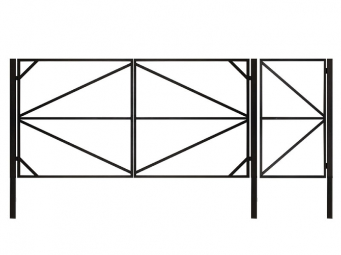 Калитка к каркасу под обшивку (Вариант 2) - 7412023.ru