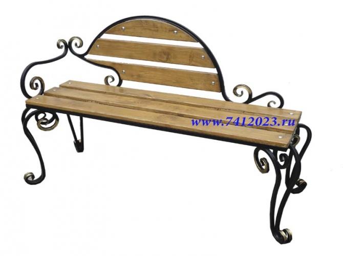 Скамейка садовая № 2 - 7412023.ru