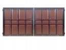 Ворота филенчатые №42 коричневые - 7412023.ru