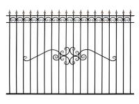 Кованый забор секция К-15.3 - 7412023.ru