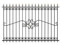 Кованый забор секция К-15.5 - 7412023.ru