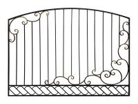 Кованый забор секция КА-15.10 - 7412023.ru