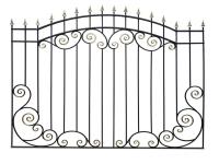 Кованый забор секция КА-15.53 - 7412023.ru