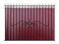 Кованый забор секция КП-15.1 (вишневая) - 7412023.ru