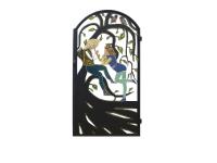 """Калитка художественной резки с росписью №31 """"Пастушок"""" - 7412023.ru"""