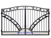 Ворота 57 кованные Лоза для котеджа - 7412023.ru