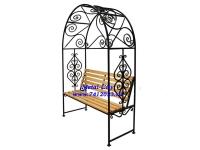 Скамейка садовая №10 с перголой (разборная) - 7412023.ru